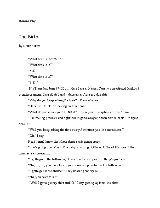 """The Birth"" by Denise Irby"