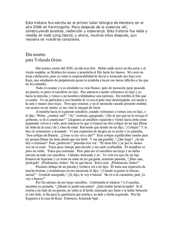 """""""Día martes"""" para Yolanda Gress<br />"""