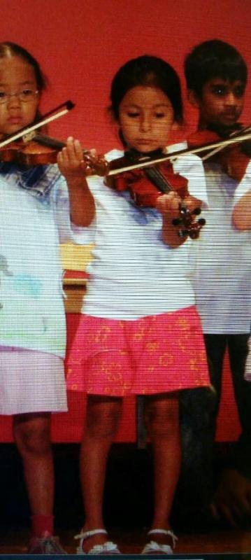 Paula Chirinos as a child