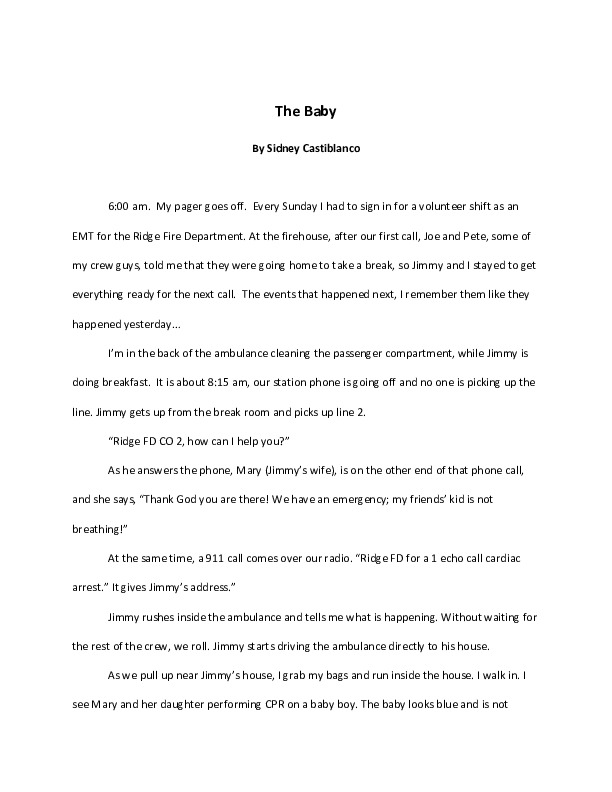 """The Baby"" by Sidney Castiblanco<br />"