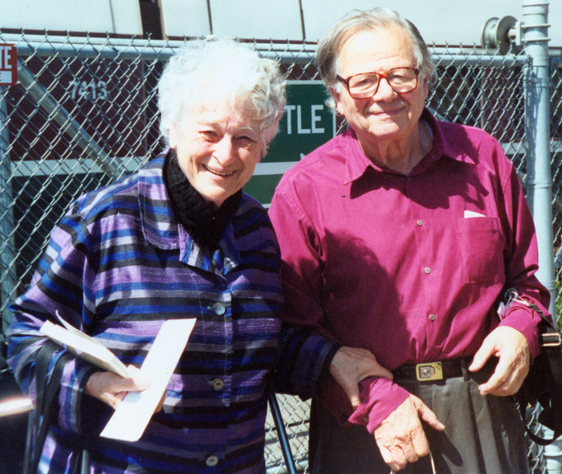 Herstory Writers Workshop author Muriel Weyl with husband Peter Weyl