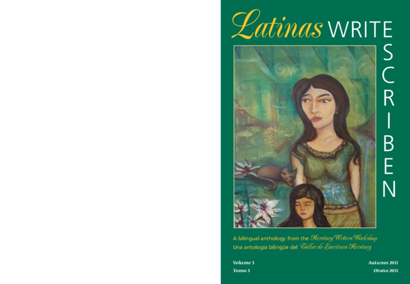 """Pages from """"Latinas Write/ Escriben"""" featuring """"Llámenme m'ija"""" by Silvia Heredia"""