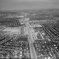 Aerial view of Levittown, NY