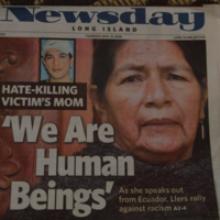 """Cover of Newsday """"We Are Human Beings"""" headline"""