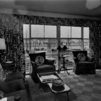 Interior of model house in Levitt development