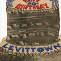 Clipping from unidentified newspaper commemorating the 20th birthday of Levittown, NY