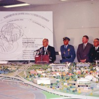 Robert Moses at the World's Fair Press Conference 1963