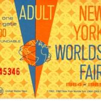 1964 WF 3-3 admission ticket